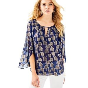 Lilly Pulitzer Beccer Silk Clip Top